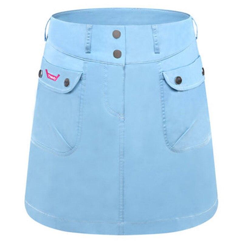 Golf Ladies Skirt Summer High-waisted Sports Skirt Skim-proof Pants Skirt Slim A-line Skirt White Blue Red Yellow Orange