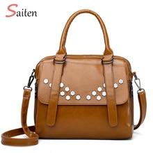 Simple and Elegant Leather Handbag Women Casual Tote Bag  Sequined Female Crossbody Large Capacity Ladies Handbags For