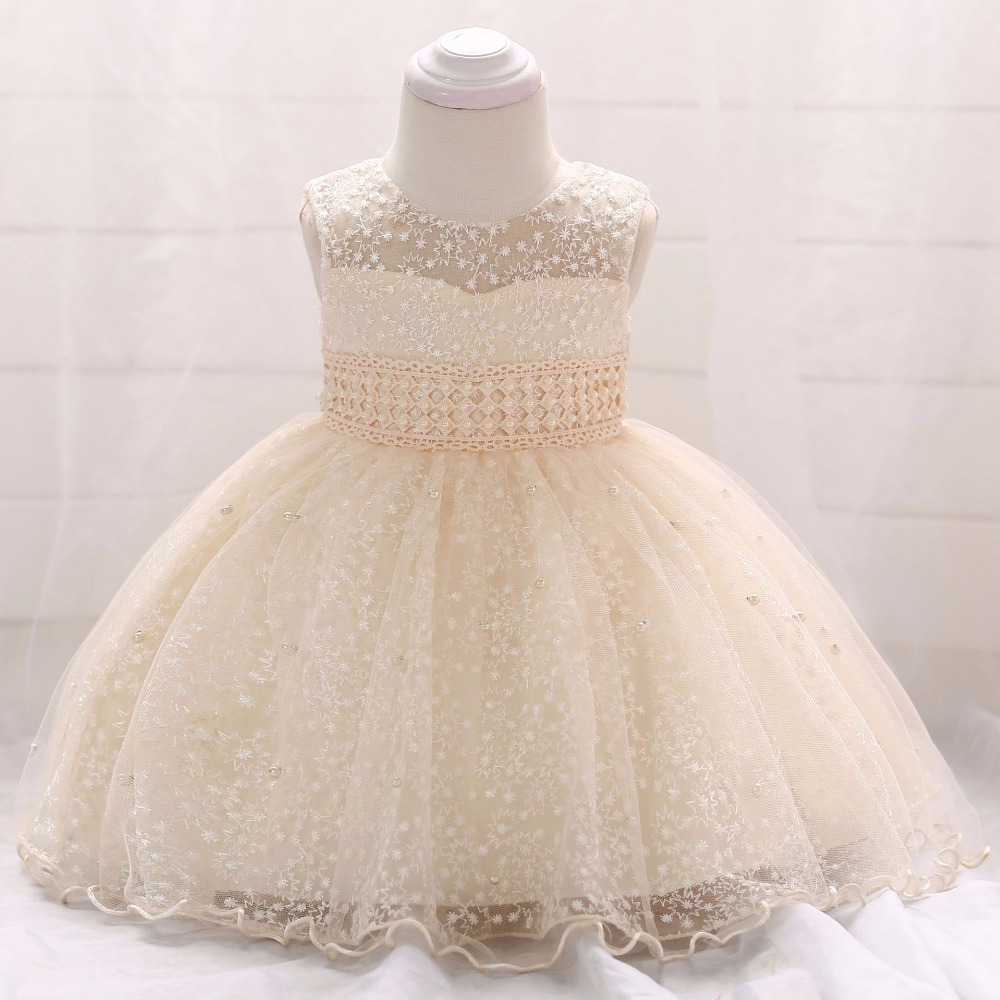 Baby Girls Dress 2018 Summer Clothes Wedding Princess Dresses For Girls Christening First Years Birthday Dress Inant Party Dress ...