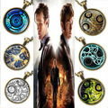 Steampunk UK drama doctor who necklace dr who timelord companion time lord Gallifreyan chain 1pcs/lot Glass mens Pendant jewelry