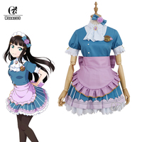 ROLECOS LoveLive Sunshine Cosplay Valentine's Costume Love Live Cosplay Sweet Lolita Dress Women Maid Costume Dia Ruby Chika
