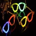 New Fresco neon Halloween esqueleto crânio de óculos glow in escuro favorece presentes do partido dos miúdos cosplay adereços enchimentos pinata