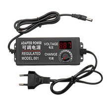 Adjustable Power Adapter EU Plug 9 24V AC/DC Adapter Switching Power Supply Regulated Power Adapter Supply Display