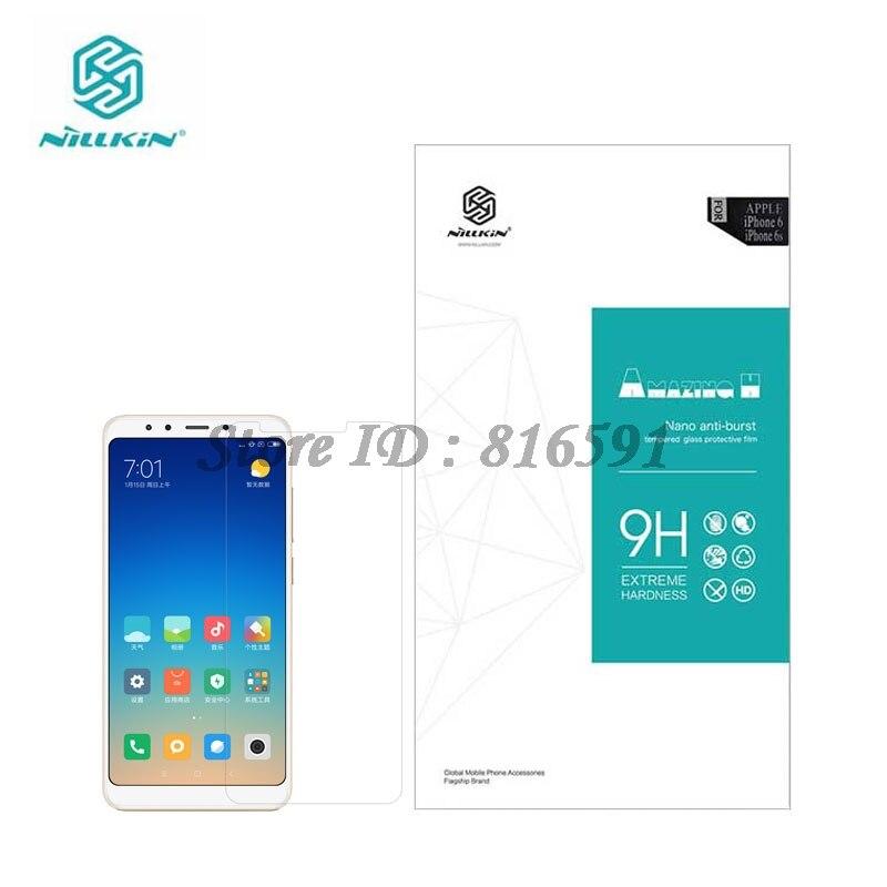 Nillkin Redmi 5 Mais Surpreendente H 0.33 MILÍMETROS Protetor de Tela de Vidro Temperado Para Xiaomi Redmi 5 Além de 5.99 polegada
