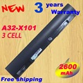 Новый 3 ячеек батареи ноутбука A31-X101 А32-X101 для ASUS EeePC X101H X101 X101C X101CH бесплатная доставка