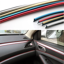 2metres Universal Car Styling Flexible Trim For Car Interior Exterior Moulding PVC Decorative Strip With Blue/Gold/Red/Chrome