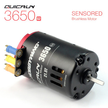 F17875/80 Hobbywing QUICRUN 3650 Sensored 6.5T / 8.5T /10.5T /13.5T / 17.5T / 21.5T 2-3S Racing Brushless Motor for 1/10 Rc Car фото