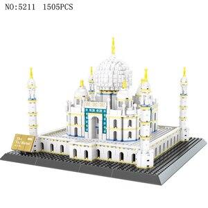 Image 4 - Wange 5210 건축 시리즈 노틀담 드 파리 모델 빌딩 블록 세트 클래식 랜드 마크 교육 완구 어린이를위한