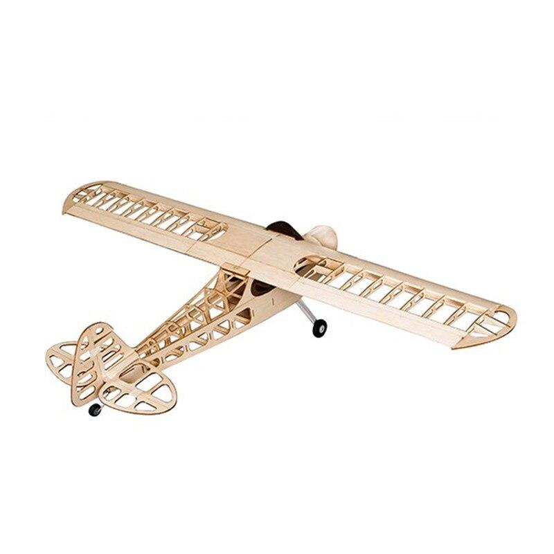 Gorąca sprzedaż Balsawood J 3 J3 laserowo wycinane 1180mm rozpiętość skrzydeł szyby Ang osłona RC samolot zestaw V2 w Samoloty RC od Zabawki i hobby na  Grupa 1