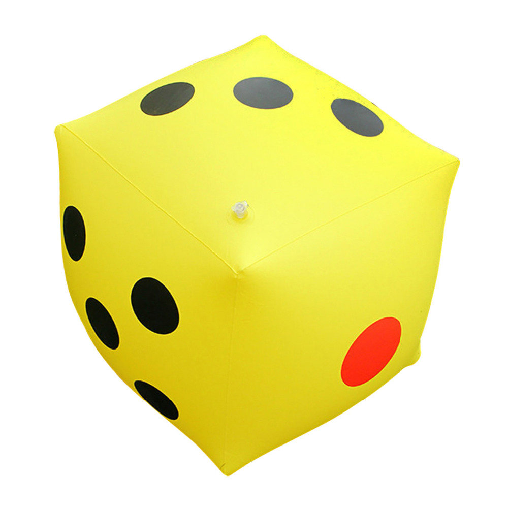 53 53cm Giant Inflatable Dice Pool Float Swimming Ring Beach Children Water Holiday Party Toy Piscina In Rings From Sports Entertainment