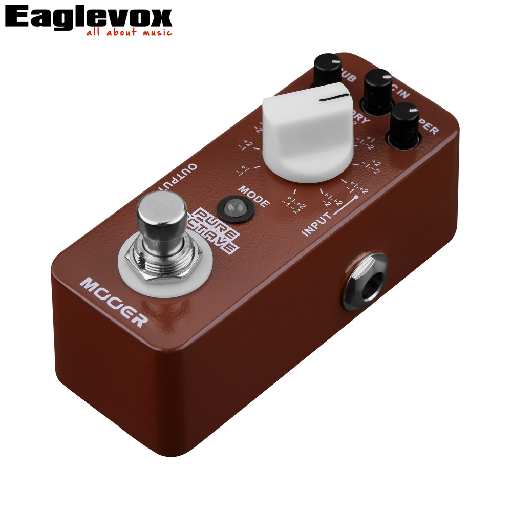 mooer pure octave electric guitar pedal 11 different octave true bypass in guitar parts. Black Bedroom Furniture Sets. Home Design Ideas