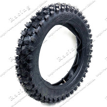 Off Road Tire 90/100-14 with Inner Tube 90/100-14 for Dirt Pit Bike Motocross Off Road Motorcycle 14 inch Rear Wheel