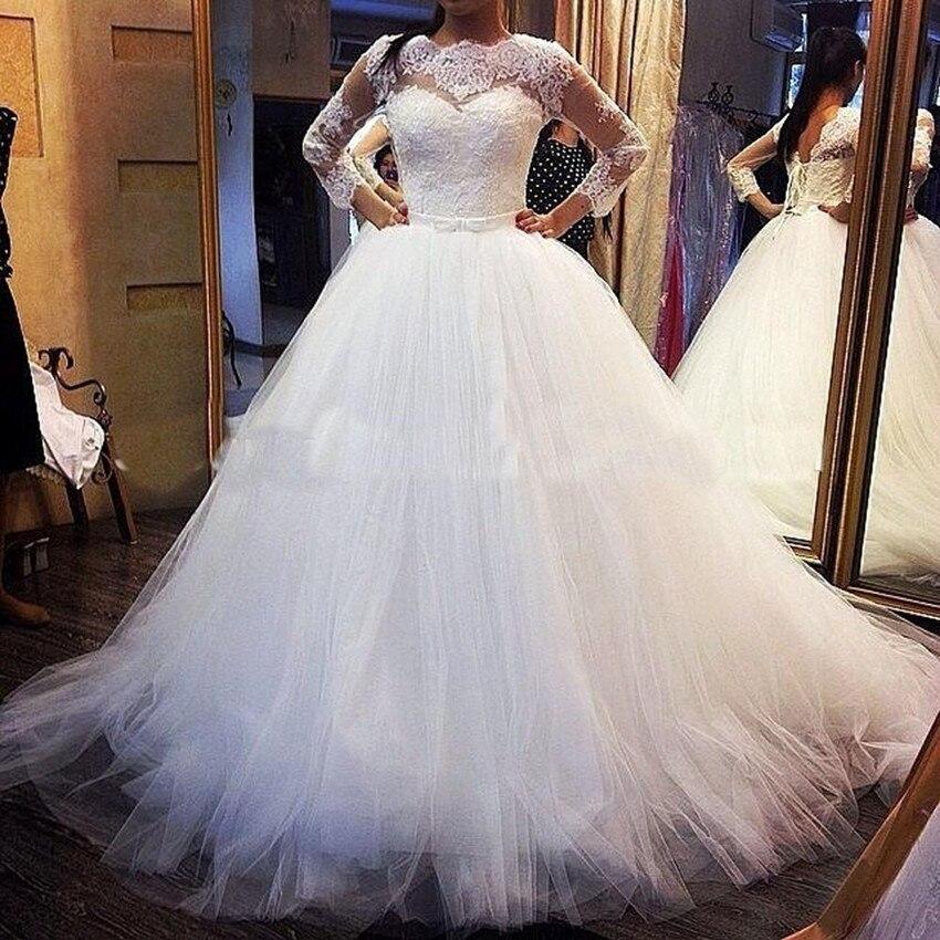 Vestidos De Noiva Elegant Long Sleeves Wedding Dresses Couture 2016 ...