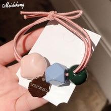 Cute Cream Color DiamondShape DIY Korea Fashion Jewelry Hair Rope Cut Pearl Head Ornamental Decoration Bead Accessory