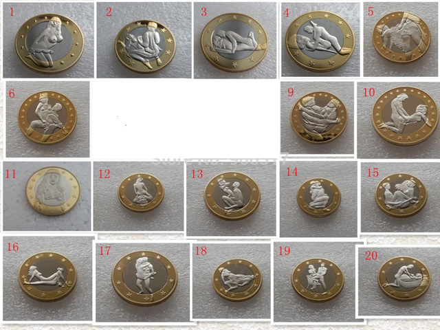 10pcs/lot  Difference Sex Euro Toned coins random choose High quality silver & golden color