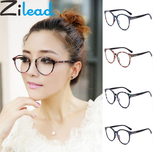 Zilead Urltra-Light Reading Glasses Retro Round Floral Presbyopia Eyeglasses Myopic Lens Frame Oculos De Grau For Men Women