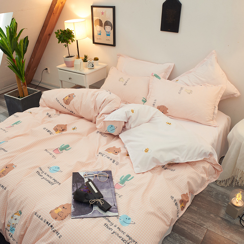 Fashion Umbrella Bedding Sets bed Linen Simple Style Duvet Cover Flat Sheet Bedding Set Winter Full King Single Queen Set 2019 in Bedding Sets from Home Garden