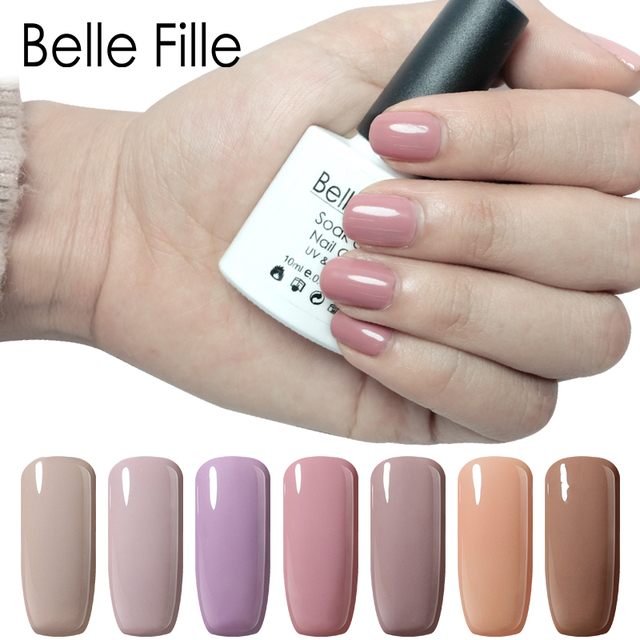 Belle Fille Nude Series Gel Nail Polish For French Nails Art Design