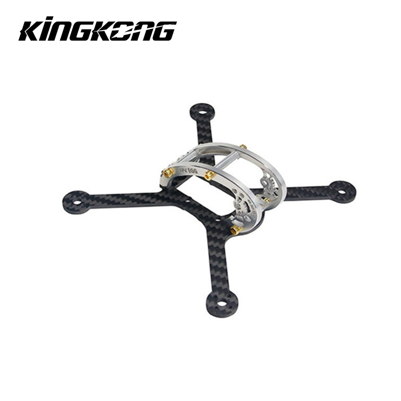 KINGKONG LDARC FPV UOVO 136mm Corsa Drone di Ricambio Kit Telaio con 4 Pairs 2840 Propeller Prop Lame per RC Racer Racing Drone