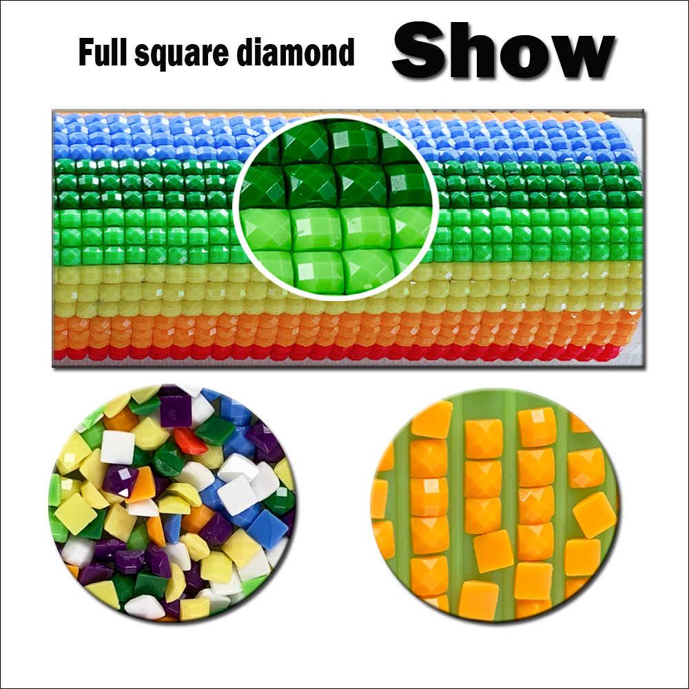 30X40 см полный квадратный/круглый DIY мозаичная картина с единорогом 5D алмазная картина со стразами Мозаика Декор крестиком Алмазная мозаика
