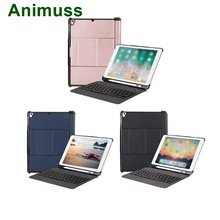 Animuss Wireless Keyboard Case For iPad 5th/6th/Air/Air 2/Pro 9.7 Bluetooth Backlit Cover Drop Resistance