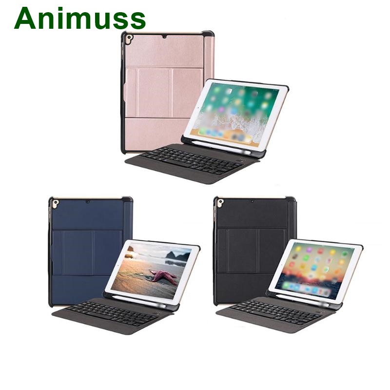 Animuss Wireless Keyboard Case For iPad 5th/6th/Air/Air 2/Pro 9.7 Bluetooth Keyboard Case Backlit Case Cover Drop Resistance