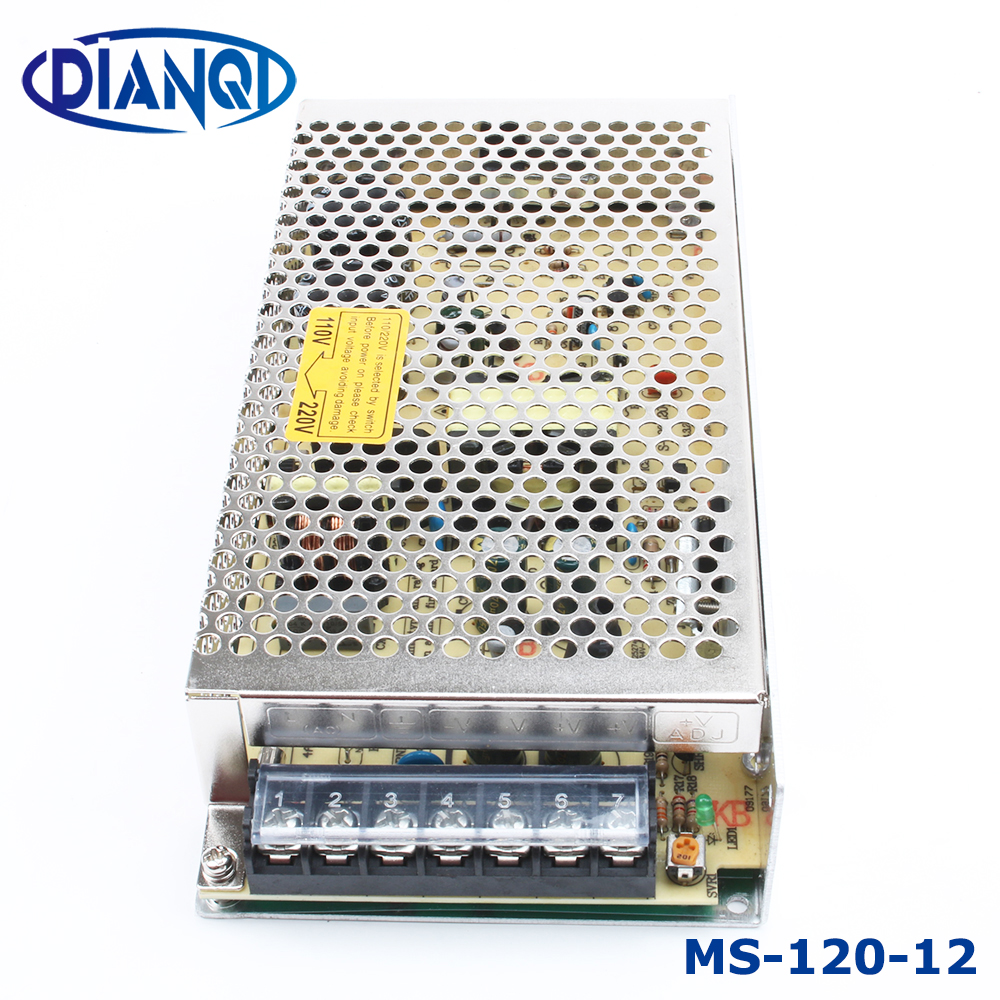 power supply 120W 12v 10a mini size ac dc converter power supply unit ms-120-12 12v variable dc voltage regulator image