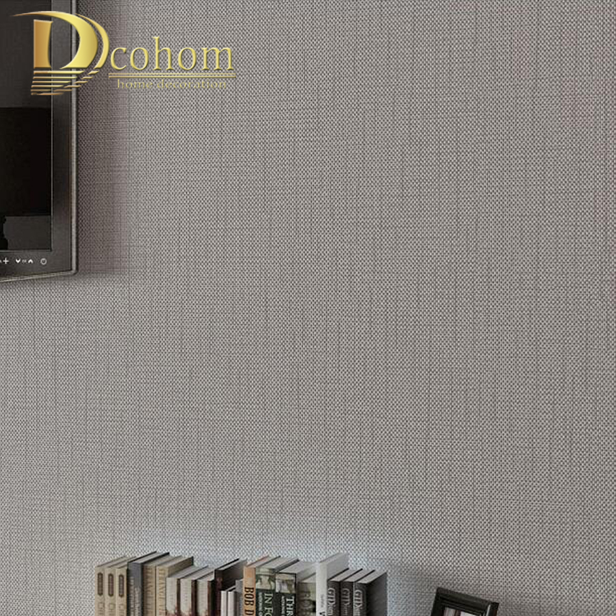Pure Beige Whtie Gray Striped Textured Wall Coverings Living Room Kitchen Plain Wallpaper Delicate Flocking Rolls