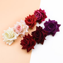 10PCS silk red roses bridal accessories clearance artificial flowers for home wedding decoration diy a cap gifts box scrapbook(China)