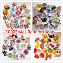 1000 Styles Random Send Kawaii Badge Acrylic Brooch For Women/Man Clothes Badge Decorative Rozet Collar Scarf Lapel Pin Broach