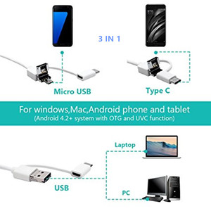 Image 5 - 3IN1 الأذن تنظيف USB المنظار كاميرا 5 ملليمتر البصرية الأذن ملعقة Earpick منظار الأذن كاميرا لالروبوت ويندوز