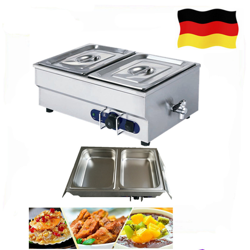 цена на Newest Stainless Steel Food Warmer Machine Small Bain Marie for Commercial Buffet Container Countertop Equipment