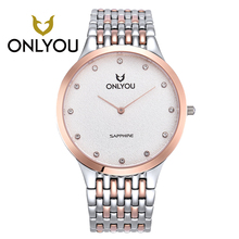 ONLYOU beautiful All Steel Pocket watch Fashion women Watches Simple Casual Waterproof Quartz Wrist Watches For Women party gift