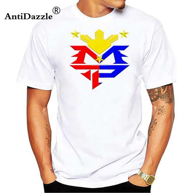 7f956a2a71d0 Online Shop Antidazzle Boxer Manny Pacquiao MP Logo Philippine Flag Men T- shirts Funny T Shirt Short Sleeve O-neck 3XL Brand Clothing