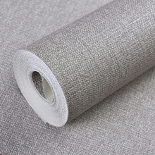 Thick solid color plain waterproof linen cloth wallpaper hemp