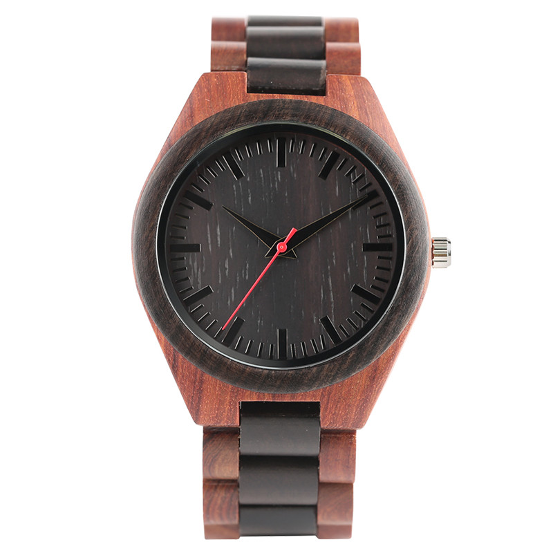 Bamboo Wooden Quartz Watches for Men Women Simple Nature Wood Strap Watch Creative Handmade Clock Light Weight simple handmade wooden nature wood bamboo wrist watch men women silicone band rubber strap vertical stripes quartz casual gift