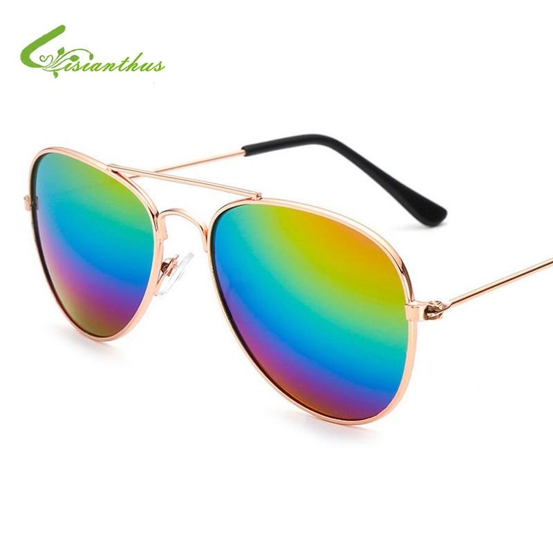 601151332 2019 جديد أزياء طفل الفتيان جريل مكبرة Piolt نمط العلامة التجارية تصميم  الأطفال نظارات شمسية UV400 حماية Gafas دي سول