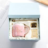 Marble Ceramic Mugs Creative Wedding Birthday Lovers' Gift Morning Mug Milk Coffee Tea Breakfast Porcelain Cup with Spoon