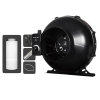 BEYLSION 100/125/150/200mm Centrifugal Fans&Activated Carbon Air Filter Ratchet Lights Lifters Set For Grow Light Tents