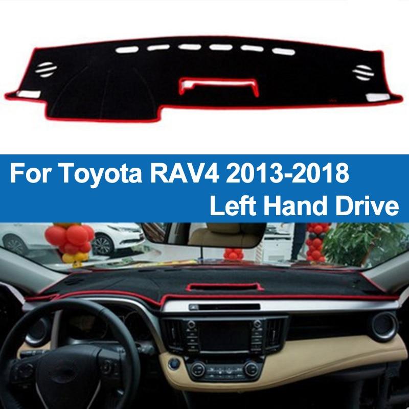 TAIJS Auto Armaturenbrett Abdeckung Schlagmatte Dash Pad DashMat Teppich Anti-Uv Rutschfeste Für Toyota RAV4 2013 2014 2015 2016 2017 2018 RAV 4
