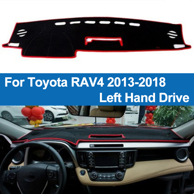 TAIJS Car Dashboard Cover Dash Mat Dash Pad DashMat Carpet ANti-UV NON-Slip For Toyota RAV4 2013 2014 2015 2016 2017 2018 RAV 4