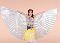 New Brand Children Egypt Belly Dance Costume Kid S Isis Wings Free Shipping Gold Silver