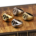 HSIC JEWELRY 10pcs/lot Assassins Creed Master Ring Men's Surrounding Assassin's Creed Jewelry Inner Diameter 18mm Wholesale