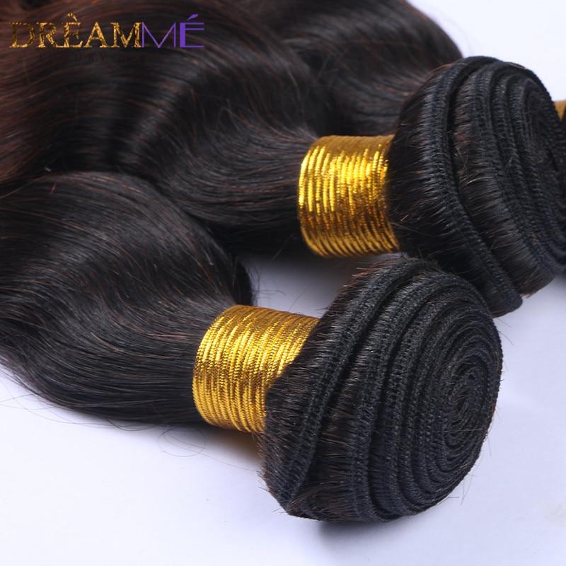 # 1B / 4/30 Barva Body Wave 3 snopi Ombre Brazilski človeški lasje - Človeški lasje (za črne) - Fotografija 6