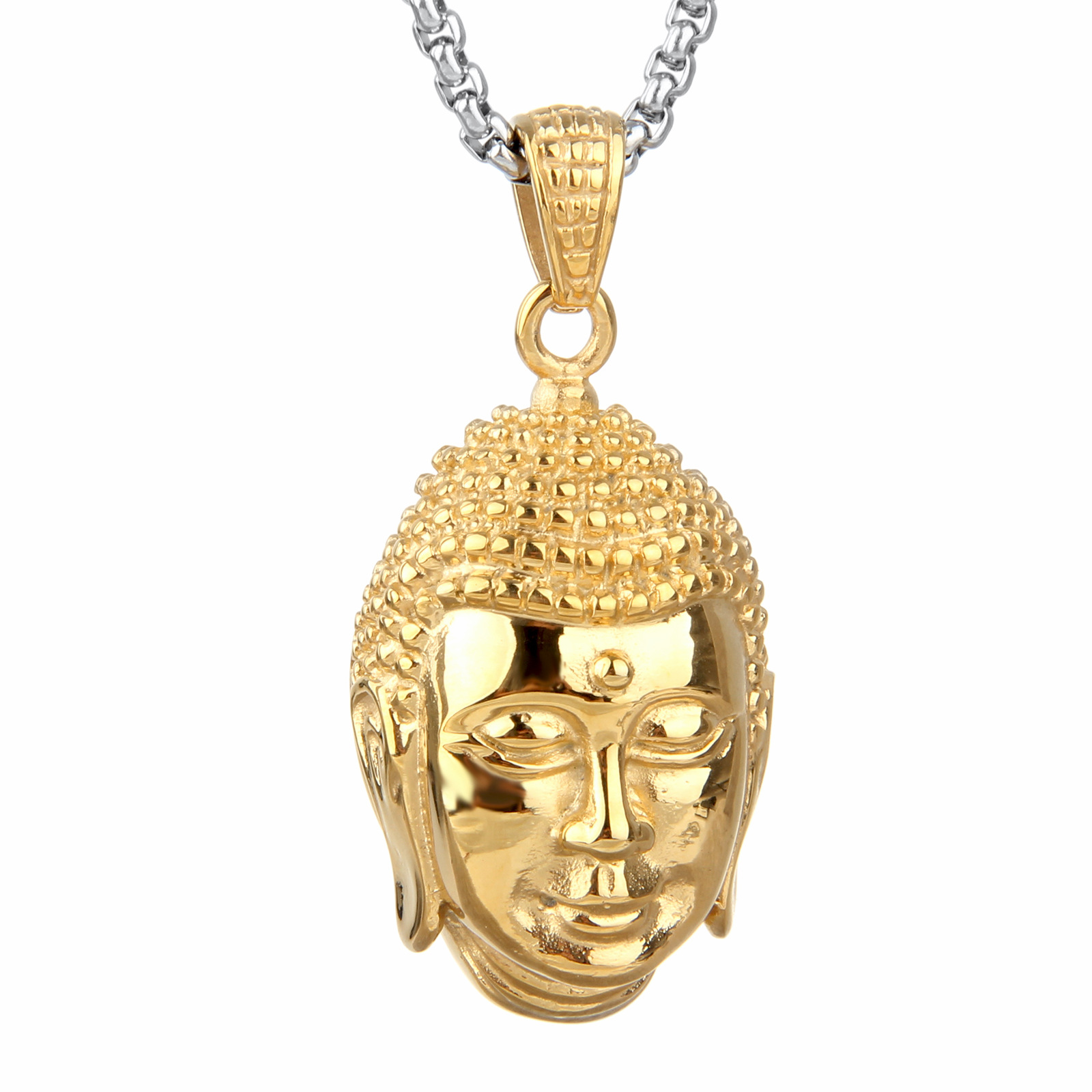Amazon China Stainless Steel Men Jewelry Wholesale Necklace Wind Titanium  Buddha Pendant Personalized Jewelry Floating Charms-in Pendants from Jewelry  ... 3b05a290e4fb