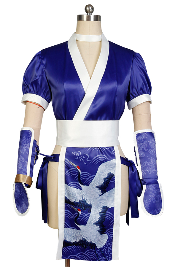 DOA: Dead or Alive Kasumi Costume Cosplay Adult Halloween Party Blue Costume