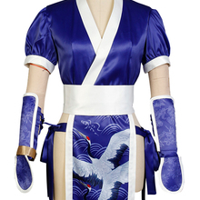 DOA Dead or Alive Kasumi Costume Cosplay Adult Halloween Party Blue Costume