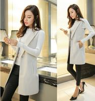 Casual fashion spring and autumn women's self-cultivation sleeveless suit horse clip fashion long vest