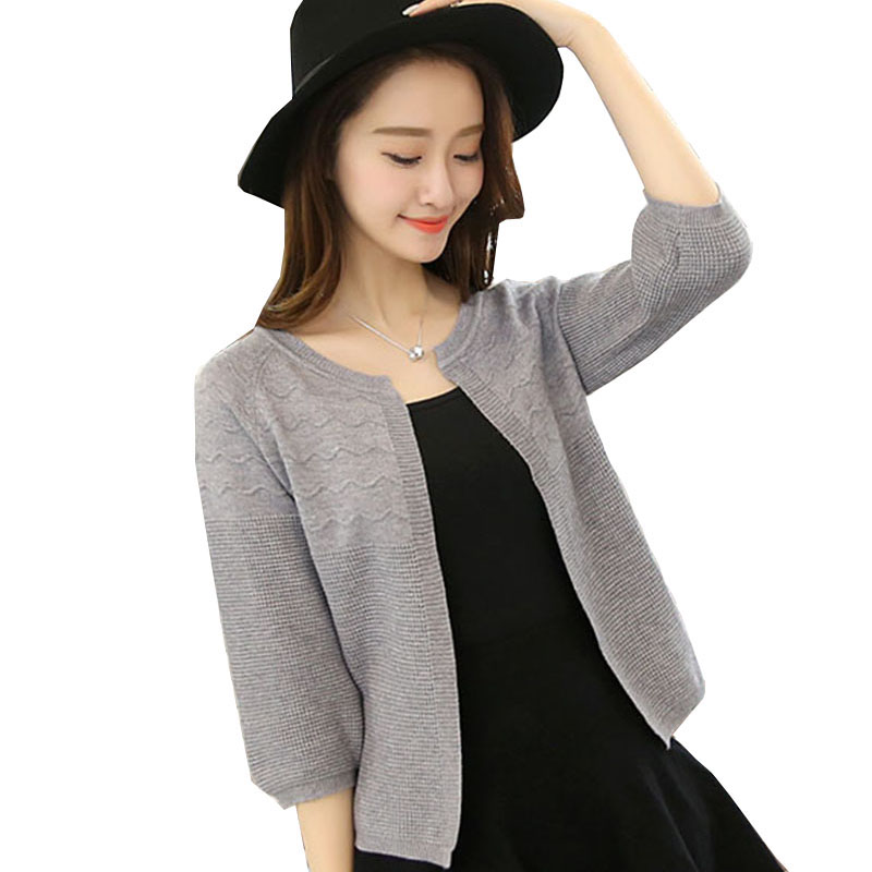 2017 autumn Plus Size sweater Cardigan Women Knitted Winter Sweater Long Sleeve female loose Warm Cardigan pink sweater AS84