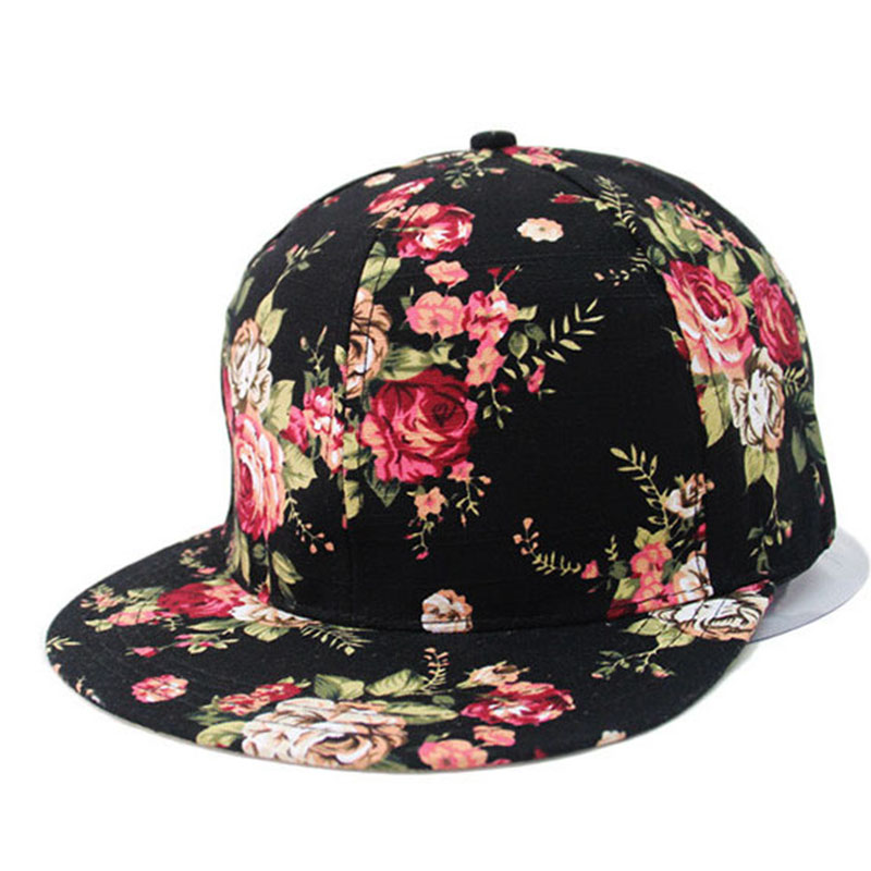 LOVINGSHA HIGH QUALITY NEW 2018 Hot Selling Hats PRINT flowers   Baseball     Caps   hats for men women Snapback   Caps   Hip Hop bone B311